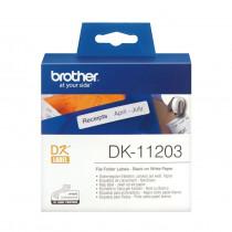 BROTHER DK11203 termične nalepke za registratorje 17x87mm