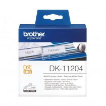 BROTHER DK11204 termične večnamenske nalepke 17x54mm