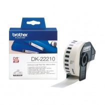 BROTHER DK22210 termične neskončne nalepke - papir 29mm x 30,48m