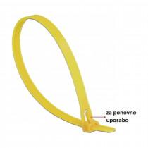Vezice 300 x 7,6mm rumene za večkratno uporabo (pak/100) Delock
