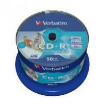 CD-R 52x 700Mb 50-cake printable Verbatim