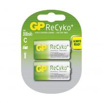 Baterija polnilna tip C 1,2V-3000 mAh 2 kom 300CHCB Ni-Mh GP ReCyko