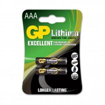 Baterija litijeva AAA 2kom 1,5V LITHIUM GP