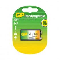 Baterija polnilna 9V-200 mAh Ni-Mh GP