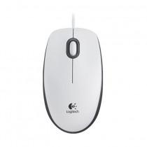 Miška Logitech OEM B100 Optična, USB bela