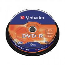 DVD-R 4,7Gb 16x 10-cake Verbatim
