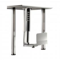 Nosilec za PC ohišje pritrjen pod mizo siv Secomp