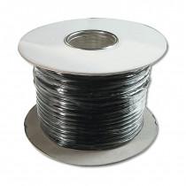 Kabel Flat AWG 26-6 črn 100m kolut DIGITUS
