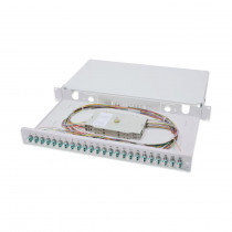 Optični panel 48cm LC 24x adapter Opt. kaseta, Pigtails OM3 Digitus