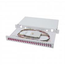 Optični panel 48cm LC 24x adapter Opt. kaseta, Pigtails OM4 Digitus