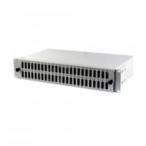 Optični panel 48cm  SC 48x duplex adap. 2U, prazen, siv EFB