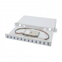 Optični panel 48cm SM LC 12x adapter Opt.kaseta, Pigtails OS2 Digitus