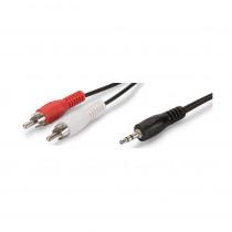 Kabel AVDIO 3.5M-2xChinchM  2,5m Digitus