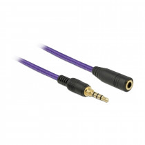 Kabel AVDIO 3.5M-3.5Ž  podaljšek 4pin 5m Delock vijola