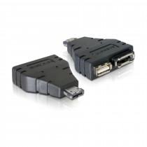 Adapter 1x eSATAp M na 1x eSATA Ž  + 1x USB-A Ž Delock