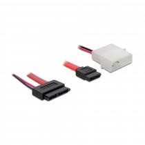 Kabel Slim SATA - SATA 7-pin + napajanje 30cm DELOCK