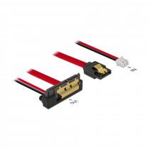 Adapter SATA 7pin+2pin Ž - 1x SATA kotni 20cm Delock