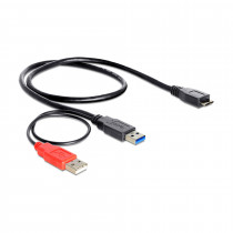 Kabel USB 3.0 Y 2xA-B mikro 20cm Delock