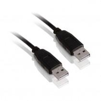 Kabel USB A-A 0,5m črn EFB