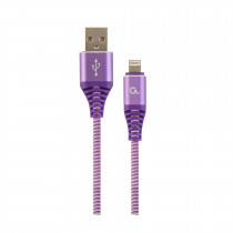 Kabel AppleUSB/Lightning 2m bombažna zaščita vijola Cablexpert