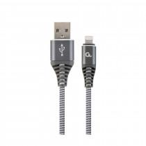 Kabel AppleUSB/Lightning 2m bombažna zaščita siv Cablexpert