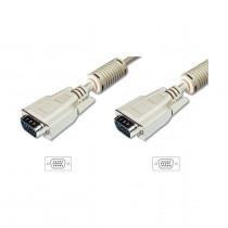 Kabel 1:1 SVGA 15 m-m 10m 14 kontaktov siv DIGITUS