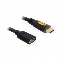 HDMI-HDMI podaljšek z mrežno povezavo 5m DELOCK črn