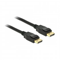 DisplayPort kabel 1m 4K 60Hz Delock črn