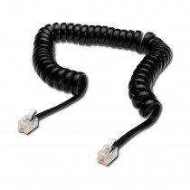 Telefonski kabel spirala 0,6m (4,0m) črn DIGITUS