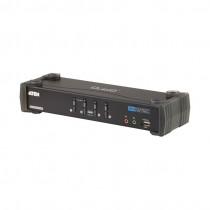 KVM  stikalo  4:1 namizni DVI/USB/AVDIO + USB HUB s kabli CS1784A Aten