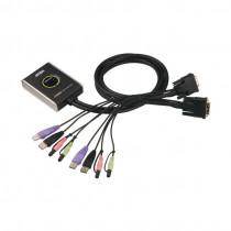 Preklopnik 2:1 mini DVI/USB/AUDIO s kabli CS682 Aten