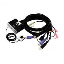 Preklopnik 2:1 mini HDMI/USB/AUDIO s kabli CS692 Aten