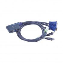 Preklopnik  2:1 mini VGA/USB/AUDIO s kabli CS62US Aten