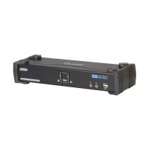 Preklopnik 2:1 namizni DVI/USB/AUDIO + USB HUB s kabli CS1782A Aten