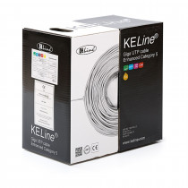 Kabel CAT.5e UTP 4x2 AWG24 300Mhz LSOH Euroclass ECA 305m KELINE