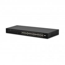Stikalo 100M 48cm 24xRJ45 24x PoE 2x SFP 2x Giga Digitus Web Smart