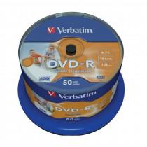 DVD-R 4,7Gb 16x 50-cake printable Verbatim