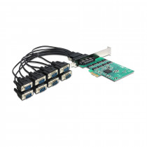 Kartica PCI Express Serijska 8xRS232 DELOCK + Low Profile 921K