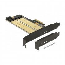 Kartica PCI Express kontroler x4 Delock 1xM.2 NGFF + 1x M.2 NVMe + Low Profile