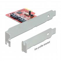 Kartica PCI Express kontroler x1 Delock 2x SATA 6Gb/s + Low Profile
