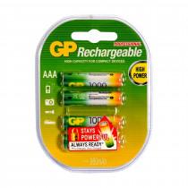 Baterija polnilna AAA-1000 mAh Ni-Mh GP 4 kom