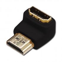 Adapter HDMI M - HDMI Ž 19-pin kotni DIGITUS