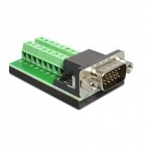 Adapter VGA 15M / terminal block Delock