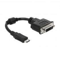 Adapter HDMI-C Mini M - DVI-D 24+5 Ž 20cm Delock