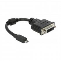 Adapter HDMI-D Mikro M - DVI-D 24+5 Ž 20cm Delock