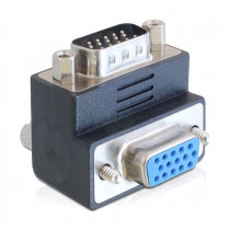 Adapter VGA M - VGA Ž kotni 90° DELOCK