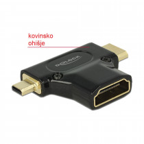 Adapter HDMI-C Mini M / HDMI-D mikro M - HDMI Ž DELOCK
