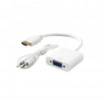 Adapter HDMI M - VGA Ž HD15 Aktivni na kablu 15cm SBOX