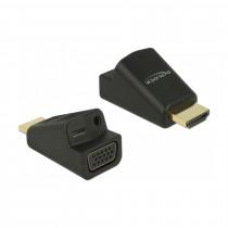 Adapter HDMI M - VGA Ž + Avdio 3,5mm Ž aktivni Delock
