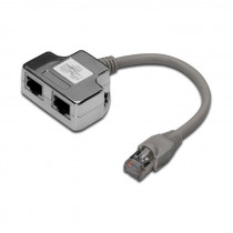 Adapter 2xRJ45Ž-1xRJ45M DIGITUS